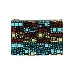 Block On Block, Aqua Cosmetic Bag (Medium)