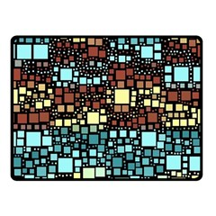 Block On Block, Aqua Fleece Blanket (small) by MoreColorsinLife
