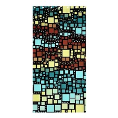 Block On Block, Aqua Shower Curtain 36  X 72  (stall)  by MoreColorsinLife