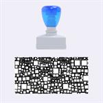 Block On Block, Aqua Rubber Stamps (Medium)