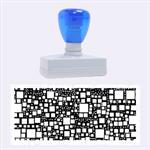 Block On Block, Aqua Rubber Stamps (Large)