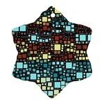 Block On Block, Aqua Ornament (Snowflake)