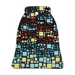 Block On Block, Aqua Ornament (bell)  by MoreColorsinLife
