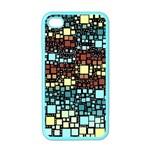 Block On Block, Aqua Apple iPhone 4 Case (Color)