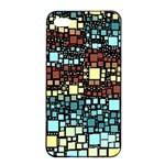 Block On Block, Aqua Apple iPhone 4/4s Seamless Case (Black)