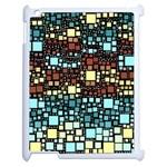Block On Block, Aqua Apple iPad 2 Case (White)