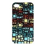 Block On Block, Aqua Apple iPhone 4/4S Premium Hardshell Case