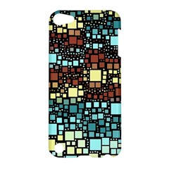 Block On Block, Aqua Apple Ipod Touch 5 Hardshell Case by MoreColorsinLife