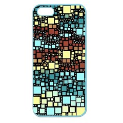 Block On Block, Aqua Apple Seamless Iphone 5 Case (color) by MoreColorsinLife