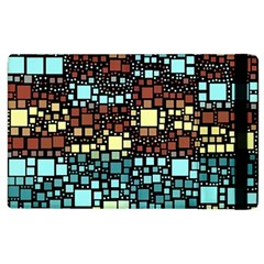 Block On Block, Aqua Apple Ipad 3/4 Flip Case by MoreColorsinLife
