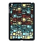 Block On Block, Aqua Apple iPad Mini Case (Black)