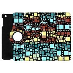 Block On Block, Aqua Apple Ipad Mini Flip 360 Case by MoreColorsinLife