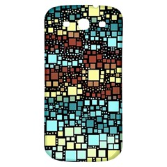 Block On Block, Aqua Samsung Galaxy S3 S Iii Classic Hardshell Back Case by MoreColorsinLife