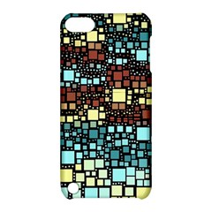Block On Block, Aqua Apple Ipod Touch 5 Hardshell Case With Stand by MoreColorsinLife