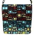 Block On Block, Aqua Flap Messenger Bag (S)
