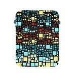Block On Block, Aqua Apple iPad 2/3/4 Protective Soft Cases