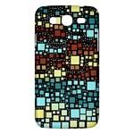 Block On Block, Aqua Samsung Galaxy Mega 5.8 I9152 Hardshell Case