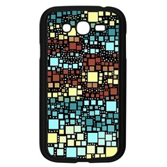 Block On Block, Aqua Samsung Galaxy Grand Duos I9082 Case (black) by MoreColorsinLife