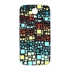 Block On Block, Aqua Samsung Galaxy S4 I9500/i9505  Hardshell Back Case by MoreColorsinLife