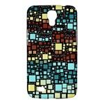 Block On Block, Aqua Samsung Galaxy Mega 6.3  I9200 Hardshell Case