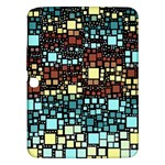 Block On Block, Aqua Samsung Galaxy Tab 3 (10.1 ) P5200 Hardshell Case