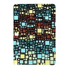 Block On Block, Aqua Samsung Galaxy Tab Pro 10 1 Hardshell Case by MoreColorsinLife