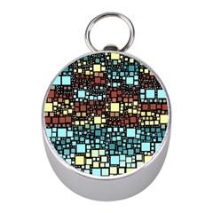 Block On Block, Aqua Mini Silver Compasses by MoreColorsinLife