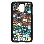 Block On Block, Aqua Samsung Galaxy S5 Case (Black)