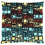 Block On Block, Aqua Large Flano Cushion Case (Two Sides)