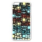Block On Block, Aqua Apple iPhone 6 Plus/6S Plus Enamel White Case