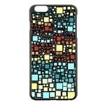 Block On Block, Aqua Apple iPhone 6 Plus/6S Plus Black Enamel Case