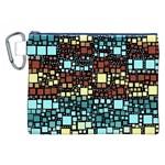Block On Block, Aqua Canvas Cosmetic Bag (XXL)
