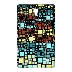 Block On Block, Aqua Samsung Galaxy Tab S (8 4 ) Hardshell Case  by MoreColorsinLife