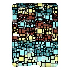 Block On Block, Aqua Samsung Galaxy Tab S (10 5 ) Hardshell Case  by MoreColorsinLife