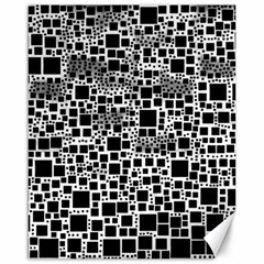 Block On Block, B&w Canvas 16  X 20   by MoreColorsinLife