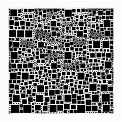 Block On Block, B&w Medium Glasses Cloth (2 Side) by MoreColorsinLife