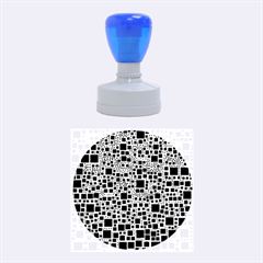 Block On Block, B&w Rubber Round Stamps (medium) by MoreColorsinLife