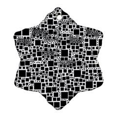 Block On Block, B&w Ornament (snowflake)  by MoreColorsinLife