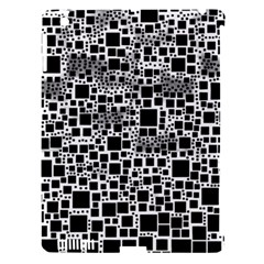 Block On Block, B&w Apple Ipad 3/4 Hardshell Case (compatible With Smart Cover) by MoreColorsinLife