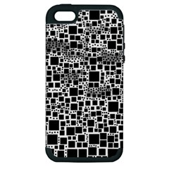 Block On Block, B&w Apple Iphone 5 Hardshell Case (pc+silicone) by MoreColorsinLife
