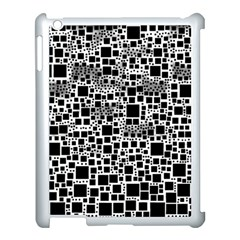 Block On Block, B&w Apple Ipad 3/4 Case (white) by MoreColorsinLife