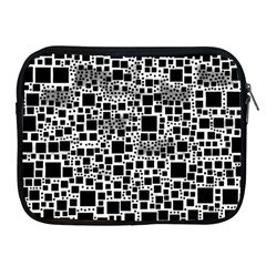 Block On Block, B&w Apple Ipad 2/3/4 Zipper Cases by MoreColorsinLife
