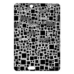 Block On Block, B&w Amazon Kindle Fire Hd (2013) Hardshell Case by MoreColorsinLife