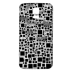 Block On Block, B&w Samsung Galaxy S5 Back Case (white) by MoreColorsinLife