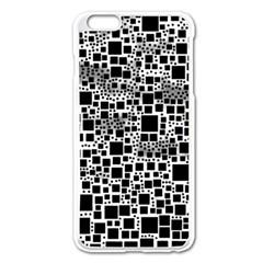 Block On Block, B&w Apple Iphone 6 Plus/6s Plus Enamel White Case by MoreColorsinLife
