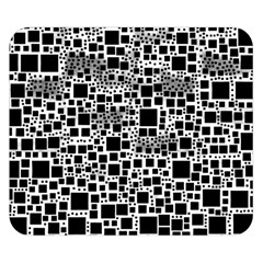 Block On Block, B&w Double Sided Flano Blanket (small)  by MoreColorsinLife