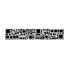 Block On Block, B&w Flano Scarf (mini) by MoreColorsinLife