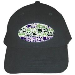 Block On Block, Purple Black Cap by MoreColorsinLife