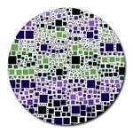 Block On Block, Purple Round Mousepads
