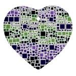 Block On Block, Purple Ornament (Heart)